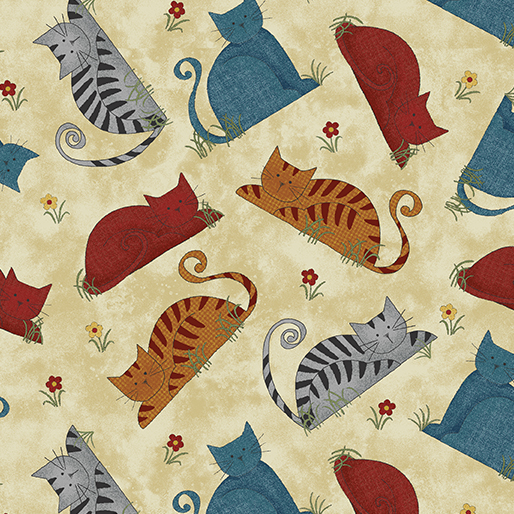 Benartex Colorful Cats 102271